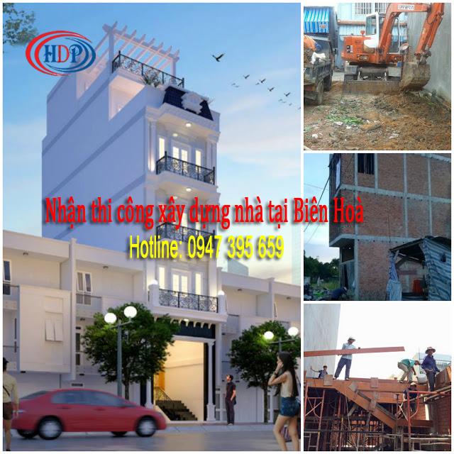 Nhận thi công xây dựng nhà tại Biên Hoà